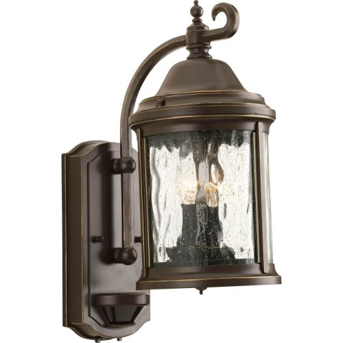 Progress Lighting P5854 Ashmore 2 Light Motion Sensor Outdoor Wall Sconce with S by Progress Lighting