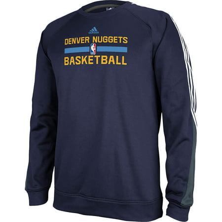 Adidas Denver Nuggets Practice Crew Sweatshirt (Navy) by