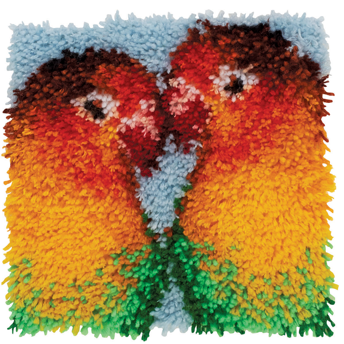 "Wonderart Latch Hook Kit, 12"" x 12"", Lovebirds"