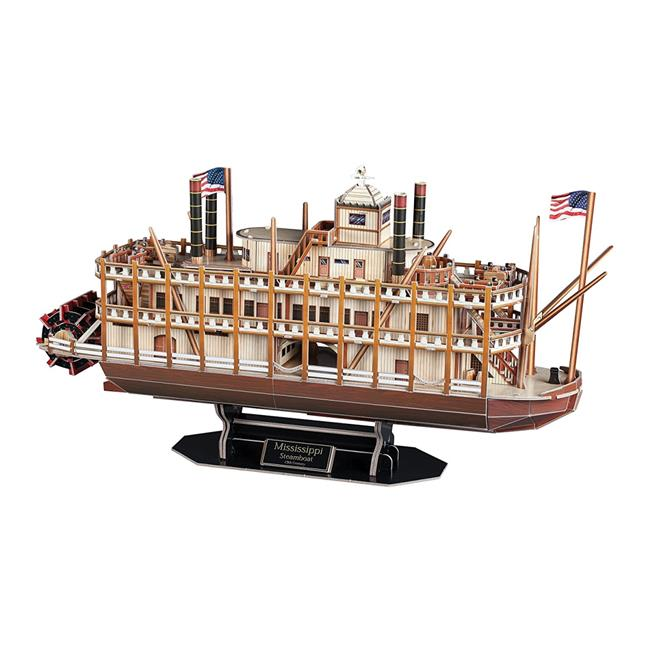 Click here to buy Mississippi Steamboat 3D Puzzle 142 Pieces by DARON.