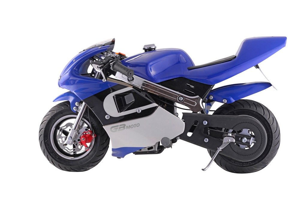 Worry Free Gadgets BIKE-BOG02-BLUE New 40cc 4-stroke Gas Power Toys Mini Pocket Motorcycle... by Worry Free Gadgets