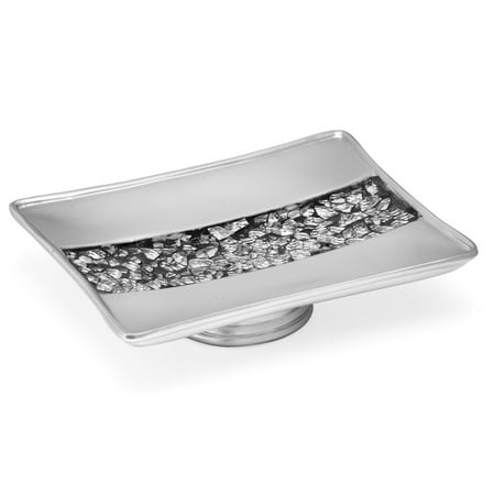 Popular Bath Sinatra Silver Collection - Bathroom Sink Soap Dish