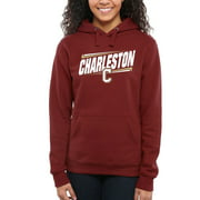 Charleston Cougars Women's Double Bar Pullover Hoodie - Maroon