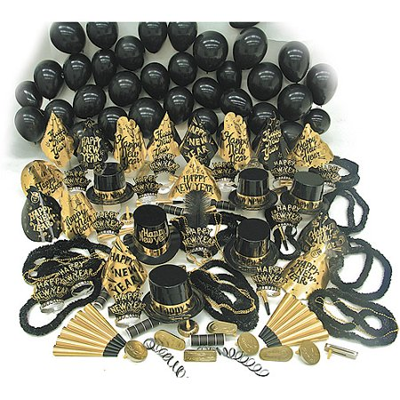 New Year's Eve Gold Sensation Party Kit for 100