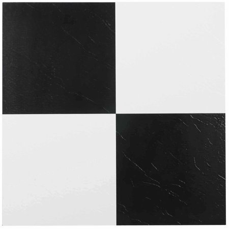 Nexus Black White 12x12 Self Adhesive Vinyl Floor Tile 20 Tiles Sq