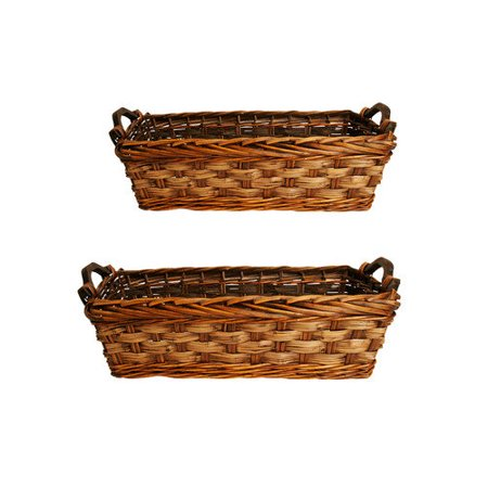 WaldImports Carved Willow Basket