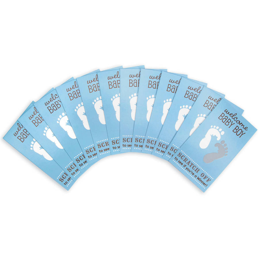 Baby Shower Scratch Off Card Game, 12pk, Blue