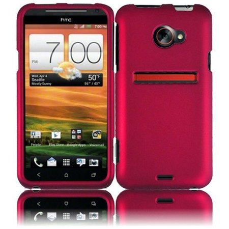 best sneakers eb3e4 ddbfc For HTC EVO 4G LTE Rubberized HARD Protector Case Snap On Phone Cover Rose  Pink