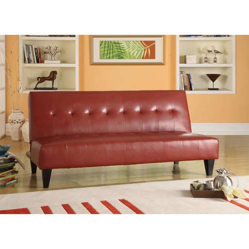 Faux Leather Bycast Adjustable Futon Sofa Multiple Colors