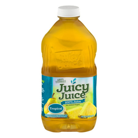 (2 Pack) Juicy Juice 100% Juice, Tropical, 64 Fl Oz, 1 (Tropical Blend Juice)