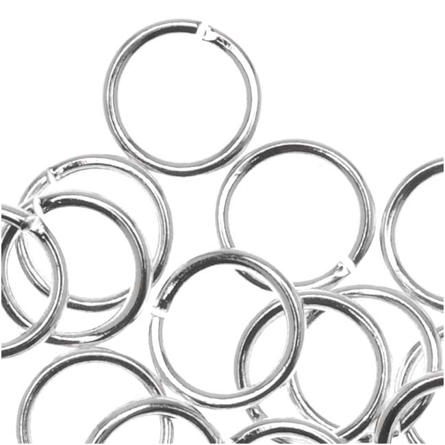 Silver Plated Open 6mm Jump Rings 20 Gauge (50)