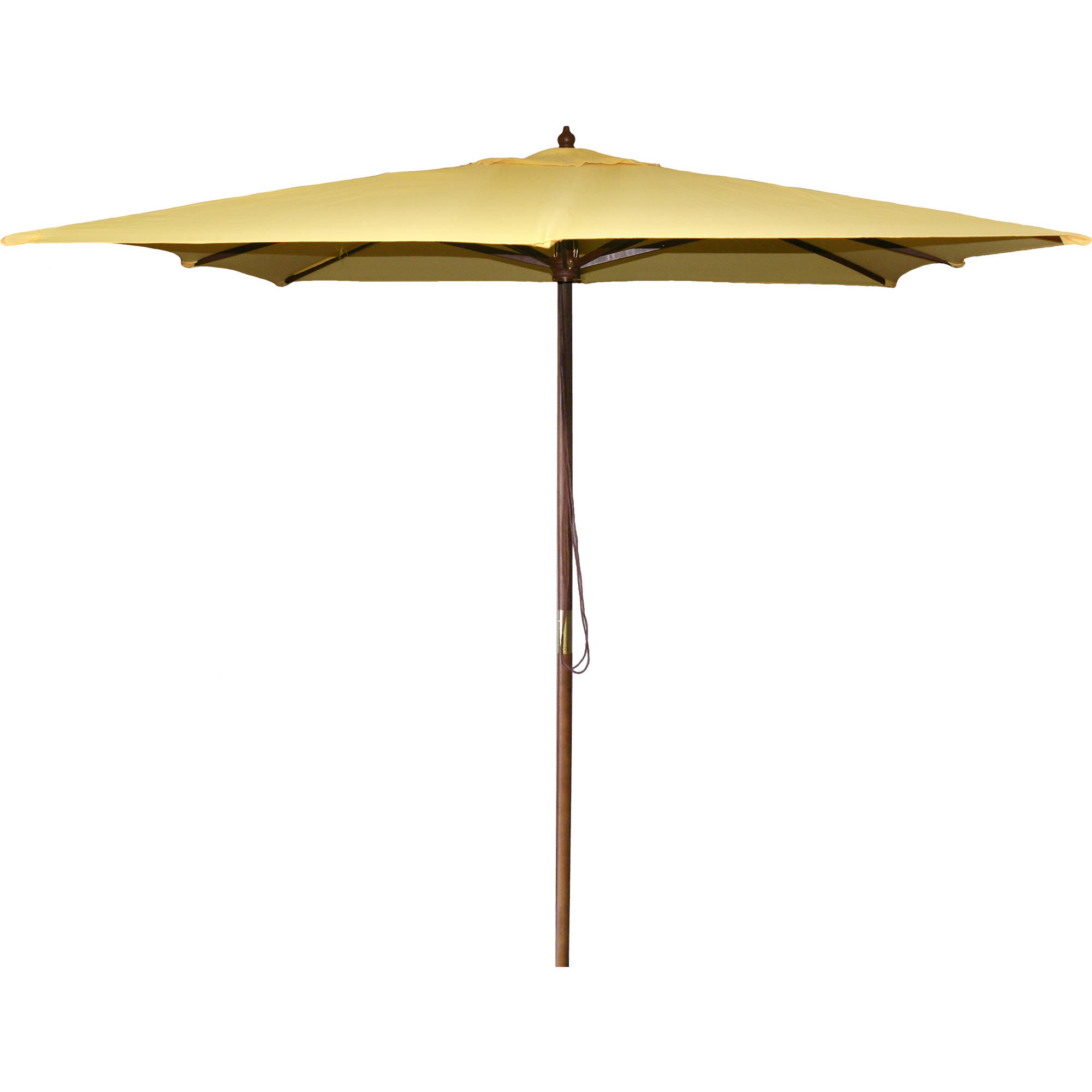 Jordan Manufacturing 8.5' Square Wood Market Umbrella