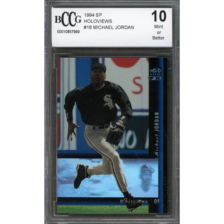 1994 sp holoviews #16 MICHAEL JORDAN white sox baseball rookie card BGS BCCG 10