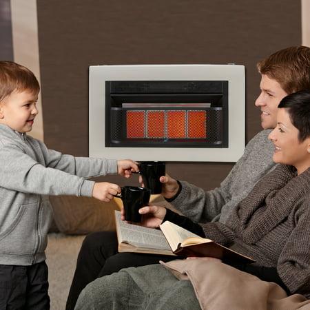 - Cedar Ridge Hearth Dual Fuel Ventless Infrared Heater Model# CH3TPU - 3 Plaque, 20,000 BTU, T-Stat Control