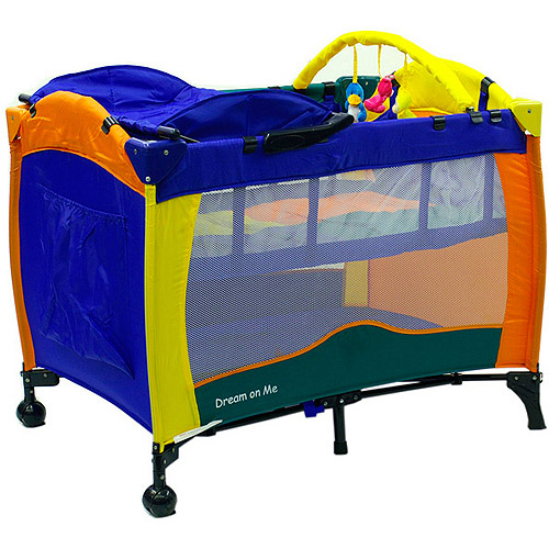 Dream On Me, Arlo, 2 Level Full Size Play Yard with Changing Station, Multi Color
