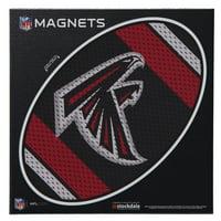 "Atlanta Falcons Jersey 6"" x 6"" Oval Full Color Magnet"