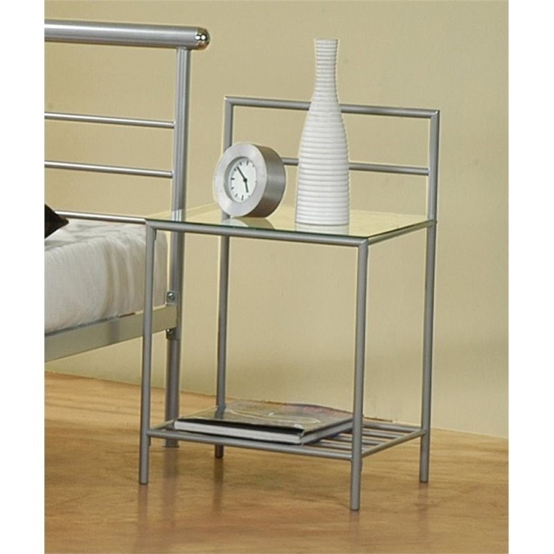Bowery Hill Nightstand in Silver