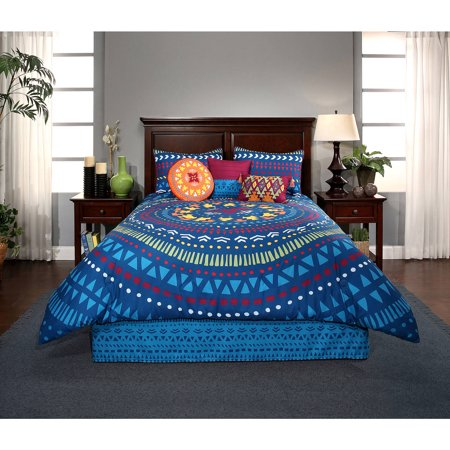 Vita Good Life Alegria 5 Piece Printed Reversible Comforter Set