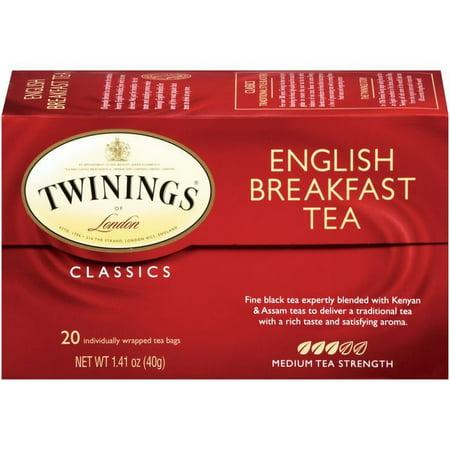 (2 Pack) Twinings of London English Breakfast 20 ct Tea Bags 1.41 oz.