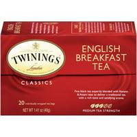 (2 Pack) Twinings of London English Breakfast 20 ct Tea Bags 1.41 oz. Box