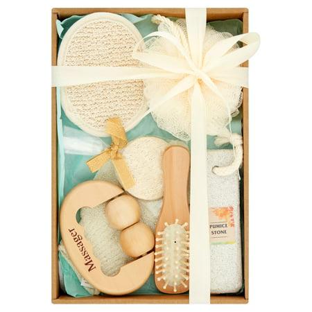 Essential Design Bath Tools and Accessories Gift Set, 7 pcs Bath Set