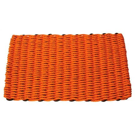 Halloween Cottage Corner (Halloween Orange and Black Rectangular Handcrafted Doormat (Cottage: 16 in. W x 26 in.)