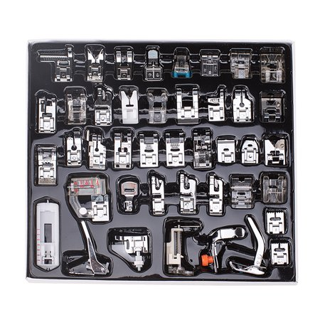 42PCS Domestic Sewing Machine Foot Presser Feet Set For Brother Janome Singer ()