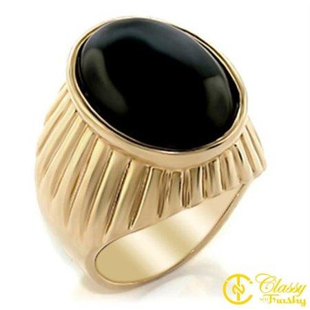 Classy Not Trashy® Size 13 Onyx Brass Semi-Precious Gold -