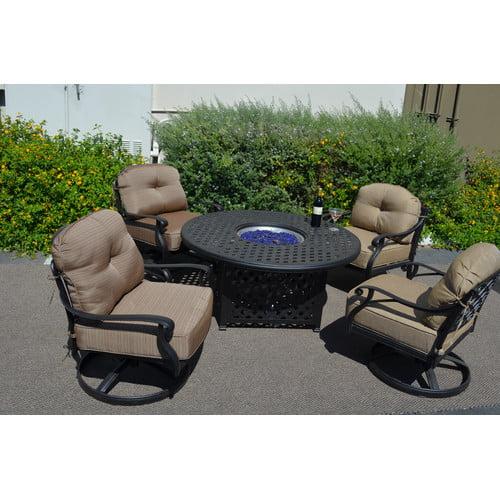 K&B Patio Newport 5 Piece Deep Seating Group with Cushions
