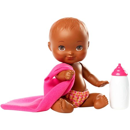 Little Mommy Mini Baby Nurture Doll with Accessories,