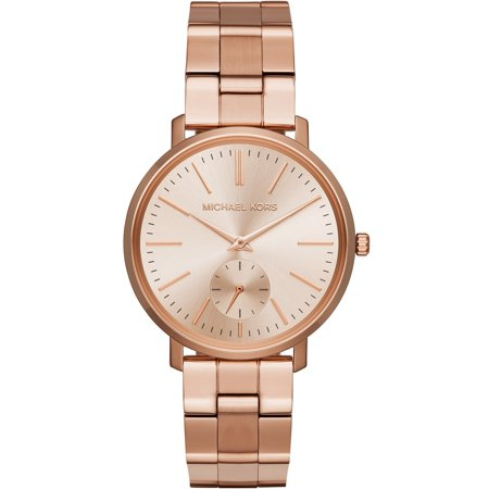 Michael Kors Women's 'Jaryn' Quartz Stainless-Steel-Plated Casual Watch, Color:Rose Gold-Toned (Model: (Michael Kors Model Number)