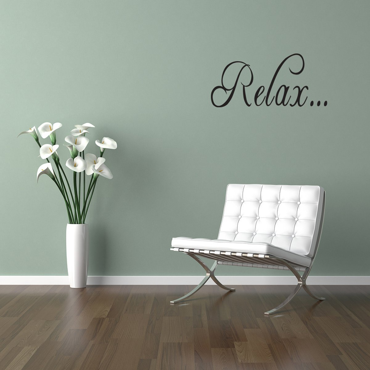Relax Bathroom Tub Wall Quote Decal Saying Lettering Home Decor Vinyl Sticker 35