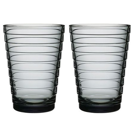 Aino Aalto Grey Large Tumblers - Set of 2, Glass By Iittala