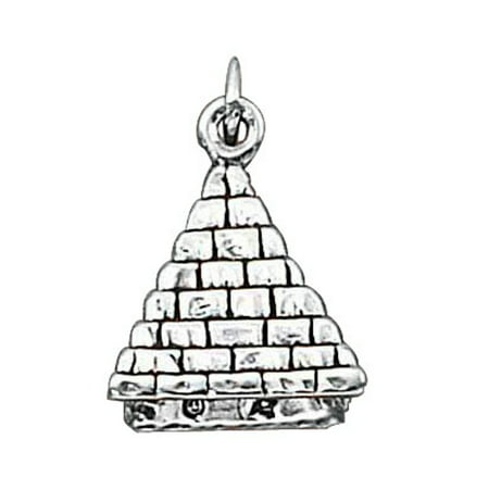 Egyptian Pyramids 3d - Sterling Silver 16