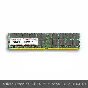 - DMS Compatible/Replacement for Silicon Graphics LS-MEM-A450-2G-Z Altix 450 512MB DMS Certified Memory DDR2-400 (PC2-3200) 64x72 CL3 1.8v 240 Pin ECC/Reg. DIMM Single Rank - DMS