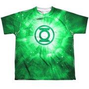 Green Lantern Green Energy Big Boys Youth Sublimation Polyester Shirt White