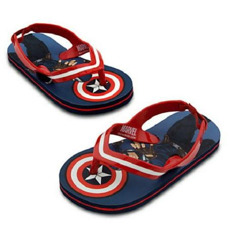 c4ee2c26c9a5 Disney Store - Disney Store Captain America Flip Flops for Boys ...