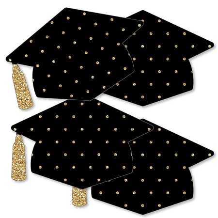 Gold - Tassel Worth The Hassle - Grad Cap Decorations DIY Graduation Party Essentials - Set of 20 - Diy Graduation Cap Decorations