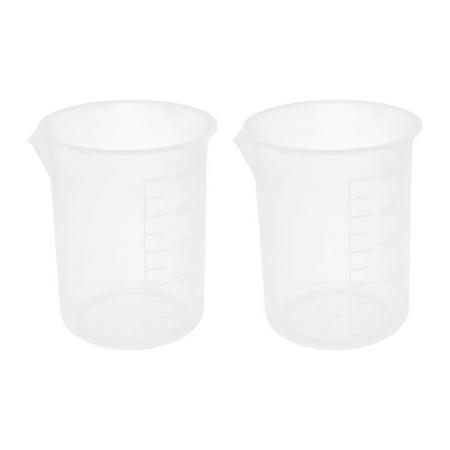 Unique Bargains Kitchen 2pcs 250ml Measure Cup Beaker for Chemical Reagent Water Sauce