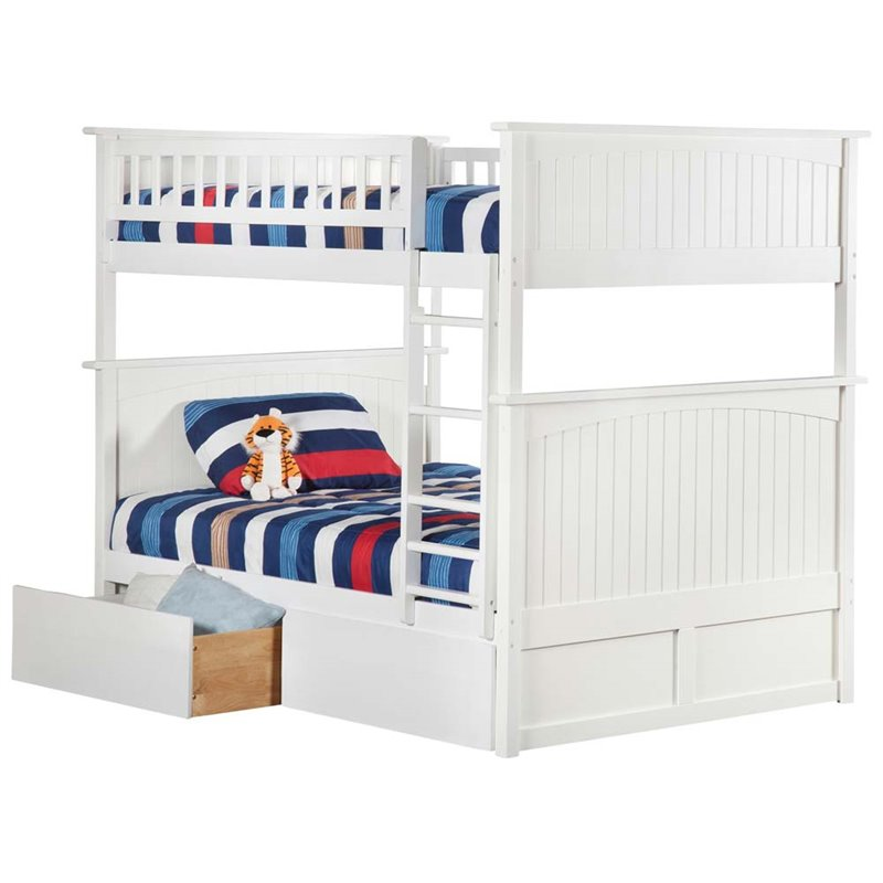 Nantucket Bunk Bed Full over Full in Multiple Colors and Configurations