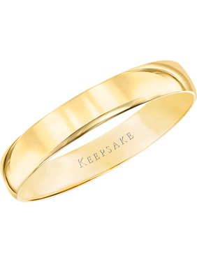 10kt Yellow Gold Wedding Band With High-Polish Finish, 4mm