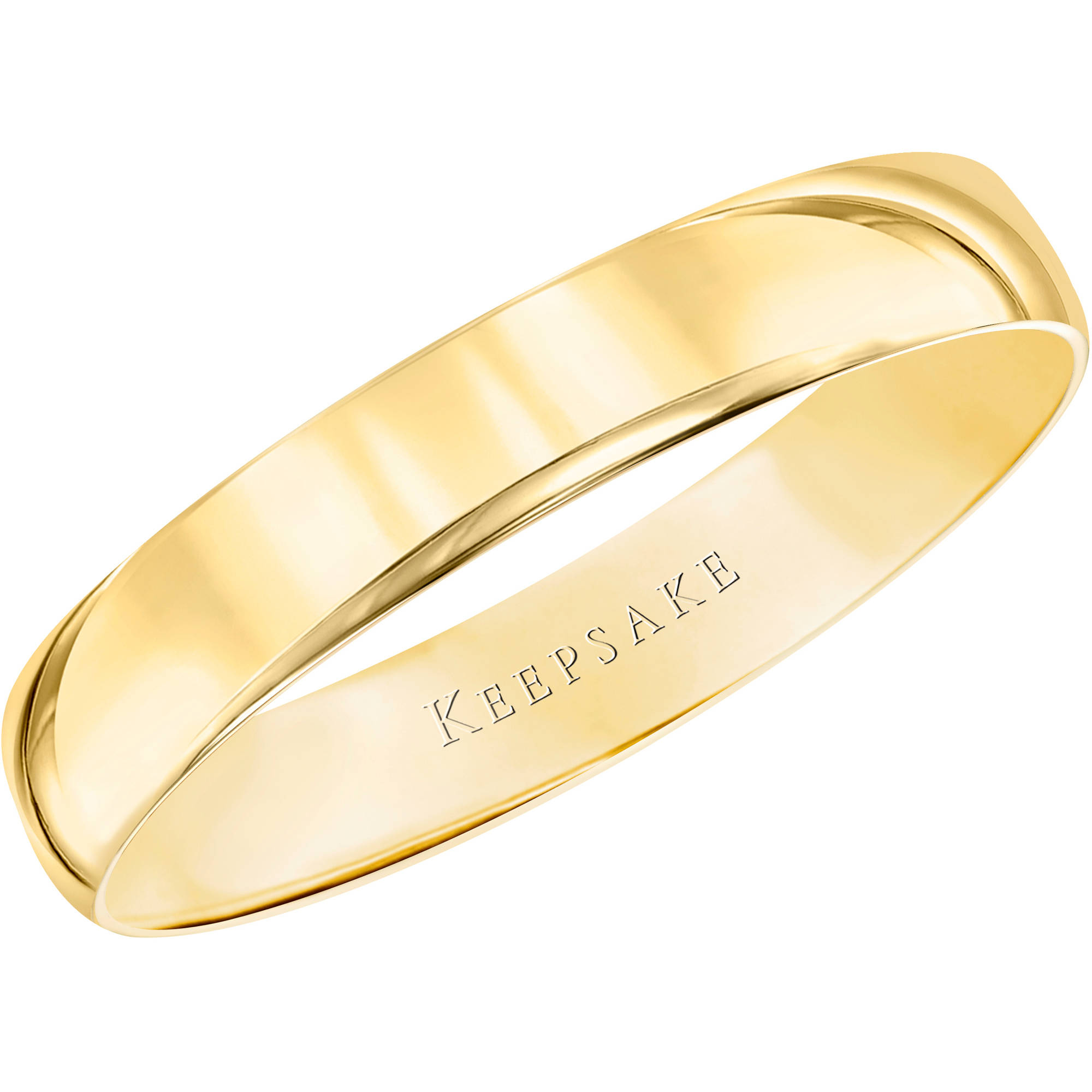 Keepsake 10kt Yellow Gold Wedding Band With High-Polish Finish, 4mm