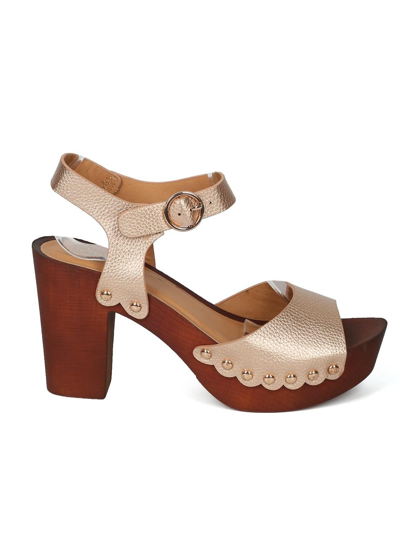3dff074f675 Alrisqd - Women Leatherette Open Toe Studded Platform Block Heel Sandal -  HK99 Qupid Line - Walmart.com