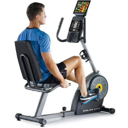 Gold's Gym Cycle Trainer 400 RI Recumbent Exercise Bike, iFit (Best Stationary Bike For Knee Replacement Rehab)