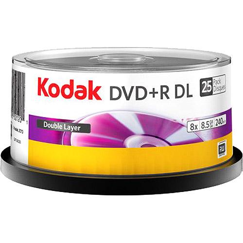 Kodak 50120 DVD Plus R Dl 8.5Gb 25 Pack Cake Box 01201