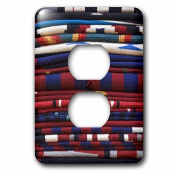 3dRose New Mexico, Gallup, Handmade Navajo Rugs, textile - US32 RTI0048 - Rob Tilley, 2 Plug Outlet Cover