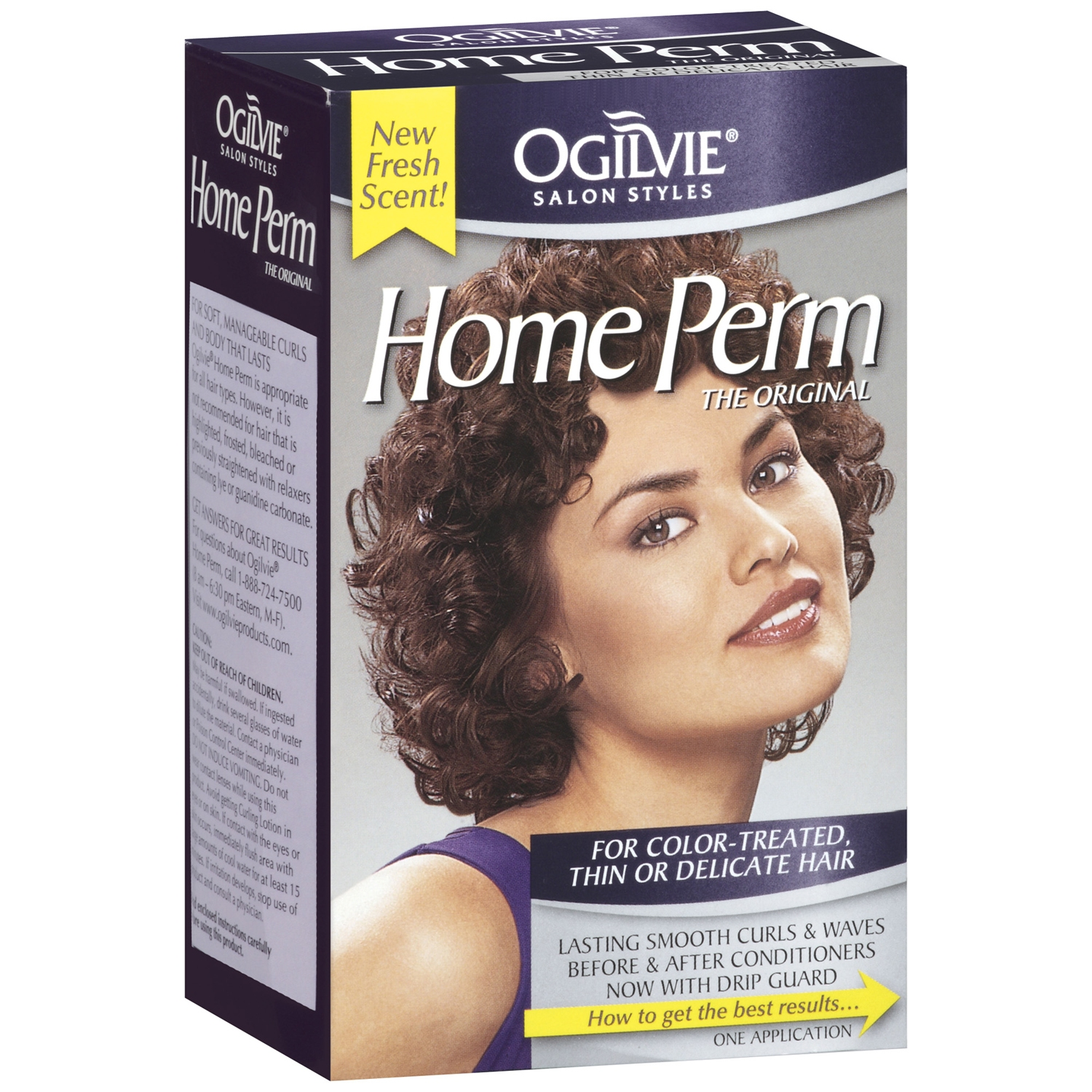 Ogilvie Salon Styles The Original For Color-Treated Thin Or Delicate Hair Home Perm 1 Ct Box