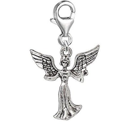 Heaven Guardian Angel Clip on Pendant Charm for Bracelet or Necklace