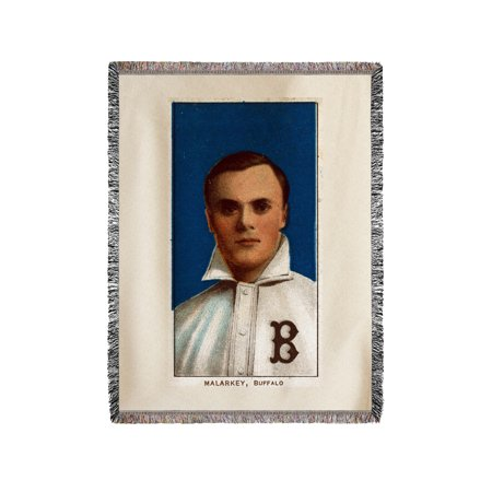 Buffalo Minor League - Bill Malarkey - Baseball Card (60x80 Woven Chenille Yarn (Buffalo Bills Woven Tapestry Throw)