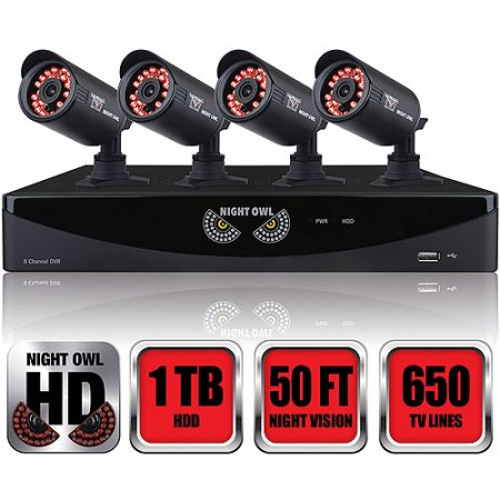 Night Owl (F6-81-4624N) 8-Channel F6 Series 960H DVR with HDMI, 1TB HDD and 4 x 650 TVL Cameras (New Open Box)